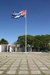 Flag of Cuba in Santiago de Cuba
