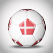 3D soccer balls with national flag  Country Denmark
