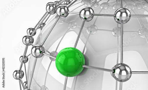 Konzept Globalisierung, Netzwerk, Internet