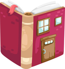 book house vector Illustration