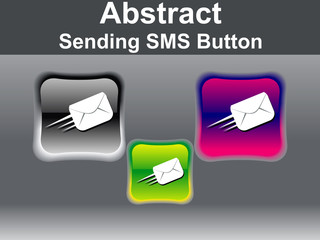 abstract glossy sending mail icon