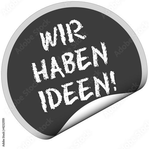 TF-Sticker rund curl unten WIR HABEN IDEEN!