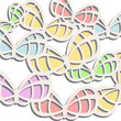 Elegance background with butterflies