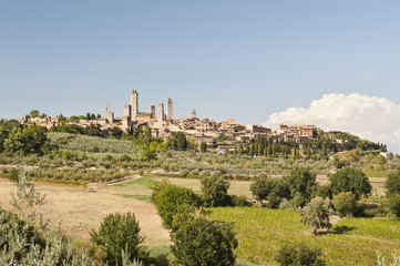 The Medieval Village of San Gimignano near Florence Italy