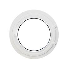 Okrągłe okno, iluminator, biały
