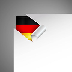 germany flag teared paper