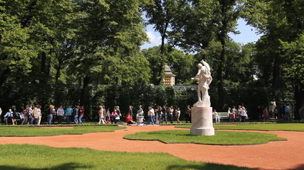 St. Petersburg. Panorama of the Summer Garden, 2012