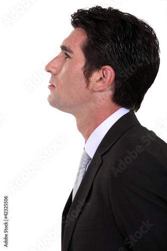portrait of businessman in profile