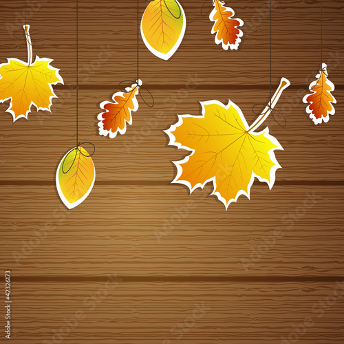 Vector illustration of an autumnal background