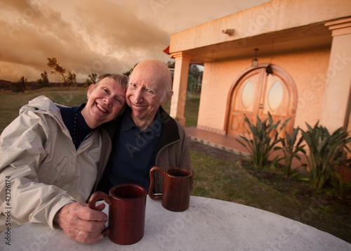 Senior Couple Outside