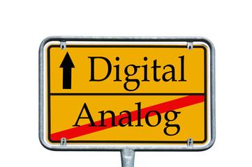 Ortsschild Analog / Digital