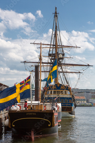 Frigate in harbor of Goteborg, Sweden