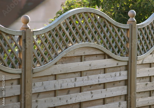 Leinwanddruck Bild Decorative fence panel