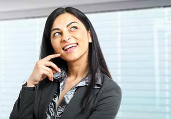 Thoughtful businesswoman portrait