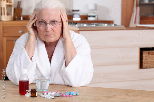 Older woman with medicine