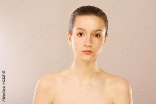beautiful woman isolated