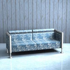 Couch mit gemustertem Stoffbezug