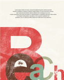 Beach. Retro grunge typographic poster. poster