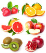 Collection of fresh fruits