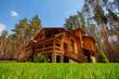 Leinwandbild Motiv Wooden mansion