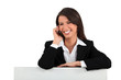 portrait of a businesswoman on the phone