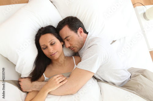 Sleeping couple