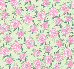 seamless pattern from  pink rose, background
