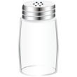 Empty salt shaker