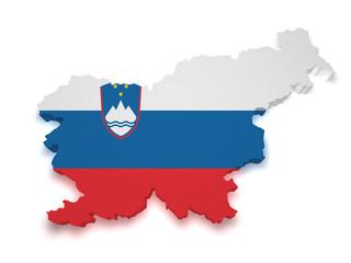 Slovenia Map 3d Shape