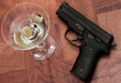 Cocktail and gun