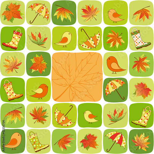 Colorful Autumn illustration