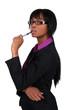 Businesswoman finding inspiration