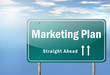"Highway Signpost ""Marketing Plan"""