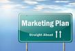 "Highway Signpost ""Marketing Plan"""