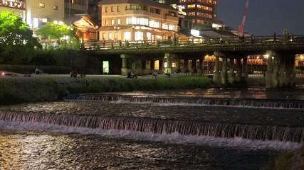 京都 三条大橋の夜景
