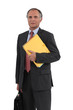 Mature businessman holding a folder