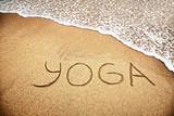 Fototapety Yoga on the sand