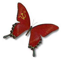 Soviet  Union flag on butterfly