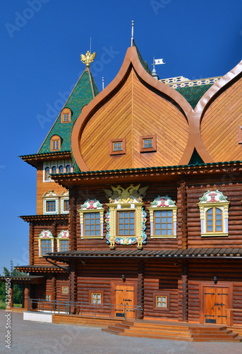 wooden palace of tzar in Kolomenskoe, Russia