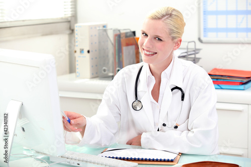 Female doctor in consultation