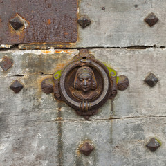 Old door knocker in Le Mans
