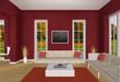 rotes Wohnzimmer Herbst