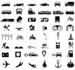Verkehrssymbole in schwarz