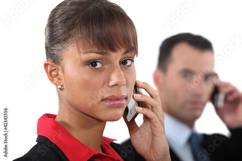 Portrait of a businesswoman with mobile phone