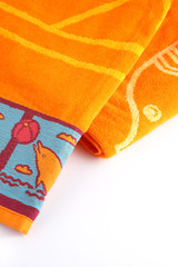 Orange beach towel