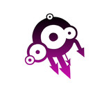 Symbole rétro violet