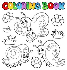 Coloring book with butterflies 2