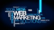 Internet Web marketing solutions blue tag cloud animation