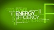 Green Power energy efficiency solutions tag cloud animation