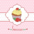 Cupcake invitation background